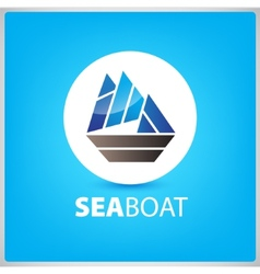 sea boat ship icon vector image