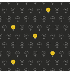 Seamless pattern texture background light bulbs vector image vector image