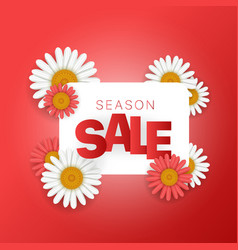 season sale offer season sale banner square vector image
