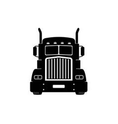 Semi truck lorry freight transportation vector