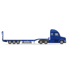 Semi truck trailer 15 vector