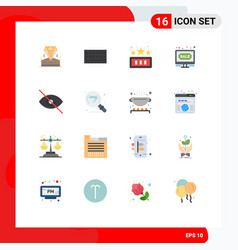 Set 16 commercial flat colors pack for deny vector