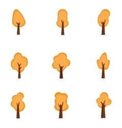 Set of orange tree collection stock vector