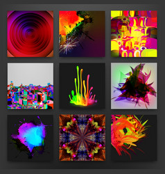 stock set abstractions vector image