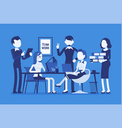 team work in office vector image