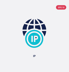 Two color ip icon from big data concept isolated vector