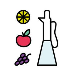 Vinegar in glass jar flat style vector