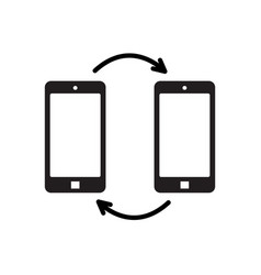 black mobile phones and arrows vector image