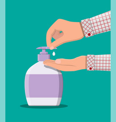 bottle with liquid soap shower gel or shampoo vector image