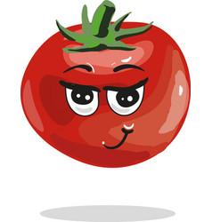 cute tomato cartoon character vector image vector image
