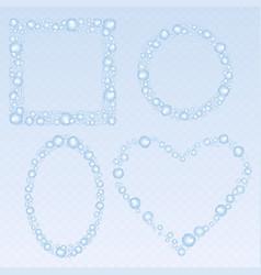 soap bubbles frames set vector image