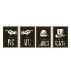 Toilet retro vintage grunge poster Ladies Cents vector image