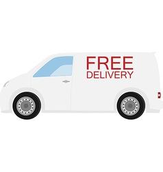 Delivery car vector image vector image
