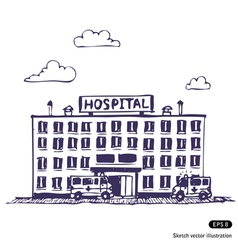 Hospital building vector image vector image
