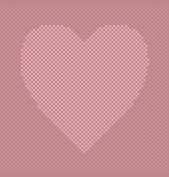 pink heart shaped background from hearts - vector image vector image