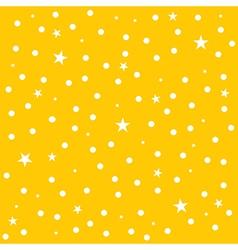 Star Polka Dot Yellow Background vector image
