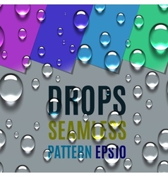 Water Transparent Drops Seamless Pattern vector image vector image