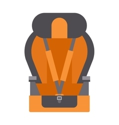 Baby car seats cartoon flat colored vector image vector image