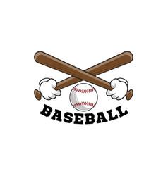 baseball logo emblem of baseball tournament on vector image