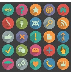 Different flat icons for web and mobile vector