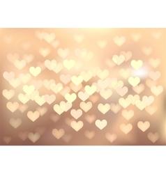 Pastel festive lights in heart shape background vector image vector image