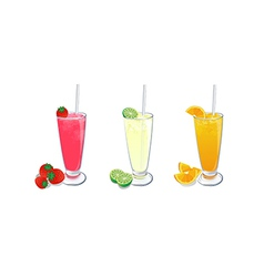 Smoothies fruit set 2 vector
