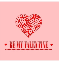 Be My Valentine Romantic Banner vector image vector image