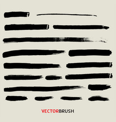 black brush texture background set vector image vector image