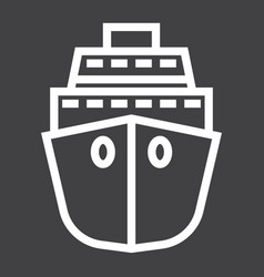 cruise line icon travel and tourism vector image