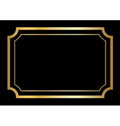 Gold frame Beautiful simple design vector image vector image