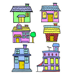 house colorful cartoon vector image vector image