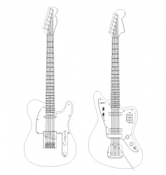 isolated guitars vector image