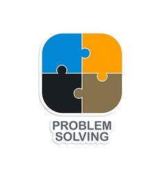 problem solving vector image