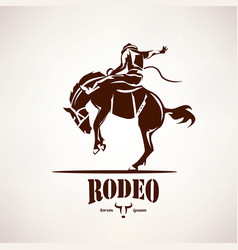 Rodeo horse symbol stylized silhouette vector