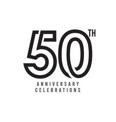 50 th anniversary celebration template design vector