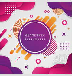 abstract geometric colorful shape background vector image