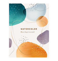 abstract watercolor design blobs and brush strokes vector image