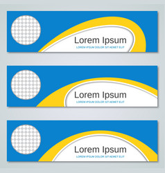 abstract yellow-blue banners templates vector image vector image