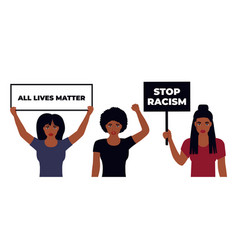 All lives matter design stop racism african vector