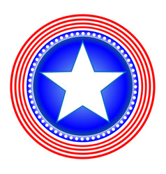 American star symbol icon vector