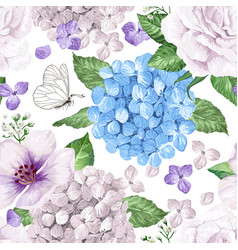 apple tree flowers hydrangea flowerspetals and vector image