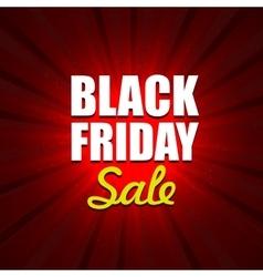 Black Friday Sale on Red Background Design Element vector