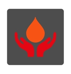 Blood Charity Rounded Square Button vector image