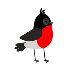 Bullfintch cartoon bird icon vector