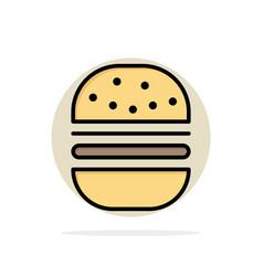 burger fast food fast food abstract circle vector image