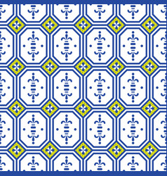 Ceramic tiles mediterranean seamless pattern vector