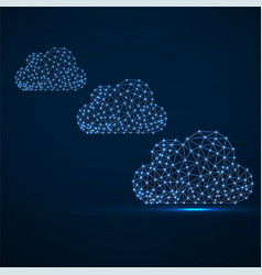 Clouds of glowing lines and dots abstract vector