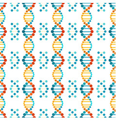Colorful dna spiral seamless pattern vector