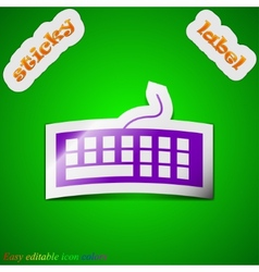 Computer keyboard icon sign Symbol chic colored vector image
