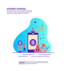 concept internet banking modern conceptual for vector image